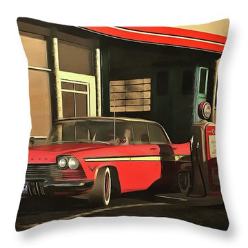 Old-timer Plymouth Throw Pillow