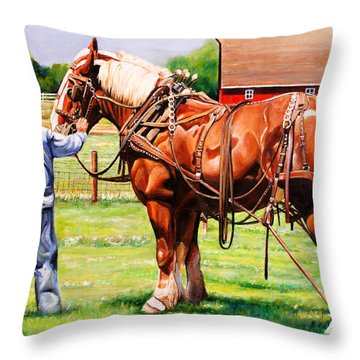 Old Timers Throw Pillow by Toni Grote