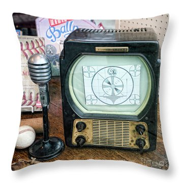 Old Timers Tv Baseball  Throw Pillow