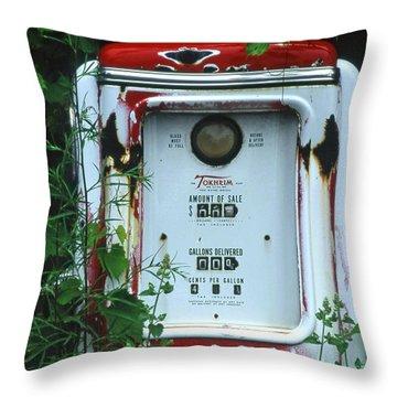 6g1 Old Tokheim Gas Pump Throw Pillow