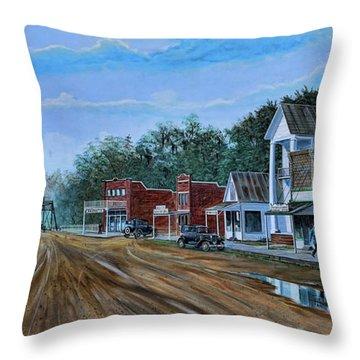Old Town Breaux Bridge La Throw Pillow
