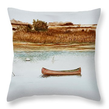 Old Town Canoe Menemsha Mv Throw Pillow