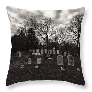 Old Town Cemetery , Sandwich Massachusetts  Throw Pillow