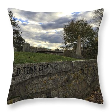 Old Town Cemetery Throw Pillow