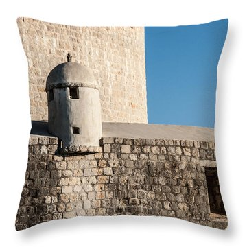 Old Town Dubrovnik Throw Pillow by Silvia Bruno