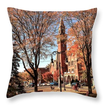 Old Town Hall In The Fall Throw Pillow