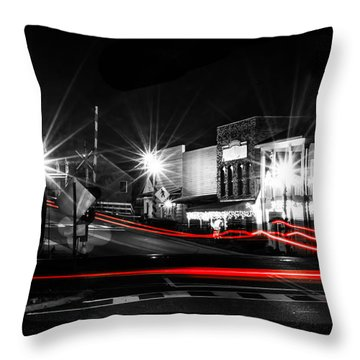 Old Town Helena At Night Throw Pillow by Shelby  Young