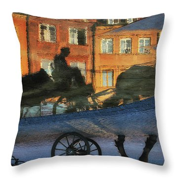Old Town In Warsaw #12 Throw Pillow