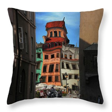 Old Town In Warsaw #14 Throw Pillow
