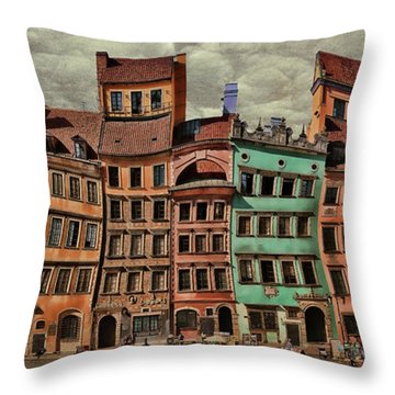 Old Town In Warsaw #15 Throw Pillow