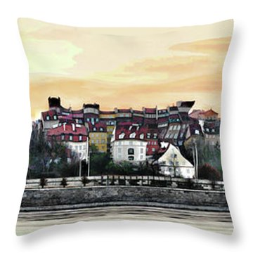 Old Town In Warsaw #16 Throw Pillow
