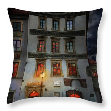 Old Town In Warsaw #17 Throw Pillow