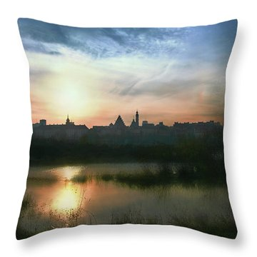 Old Town In Warsaw #18 Throw Pillow
