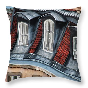 Old Town In Warsaw #19 Throw Pillow