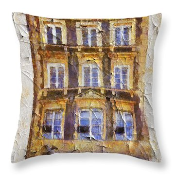 Old Town In Warsaw #21 Throw Pillow