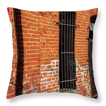 Old Town Jail Throw Pillow