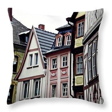 Old Town Mainz Throw Pillow by Sarah Loft