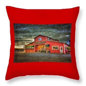 Old Town Mall Bandon Throw Pillow