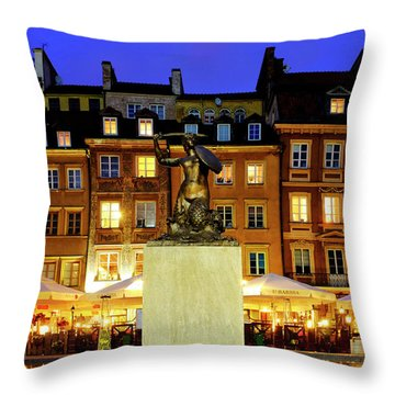 Throw Pillow featuring the photograph Old Town Market Place by Fabrizio Troiani