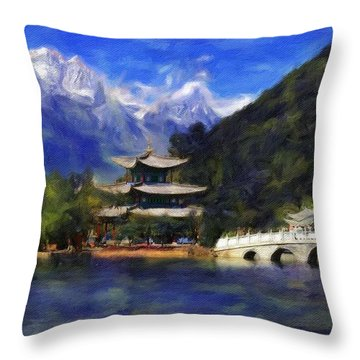 Old Town Of Lijiang Throw Pillow by Vincent Monozlay