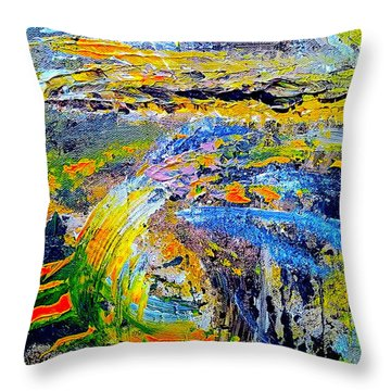 Old Town Of Nice 1 Of 3 Throw Pillow