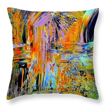 Old Town Of Nice 2 Of 3 Throw Pillow