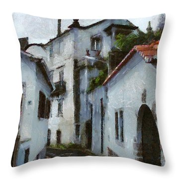 Old Town Street Throw Pillow