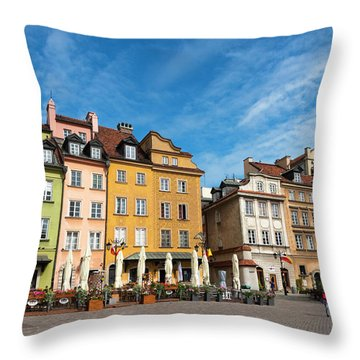 Throw Pillow featuring the photograph Old Town Warsaw by Chevy Fleet