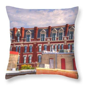 Old Town Wichita Kansas Throw Pillow