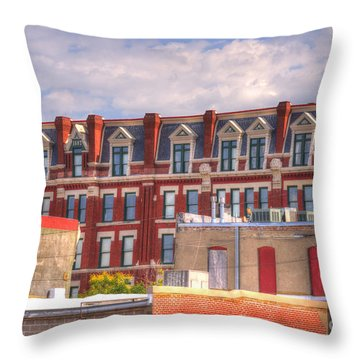 Old Town Wichita Kansas Throw Pillow