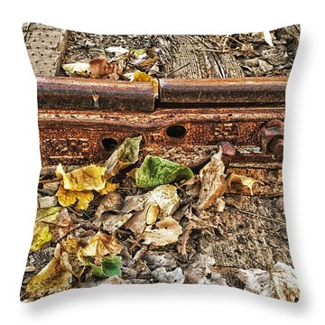 Old Tracks Throw Pillow