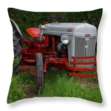 Old Tractor Throw Pillow by Doug Long