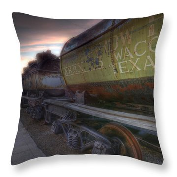 Old Train - Galveston, Tx 2 Throw Pillow by Kathy Adams Clark