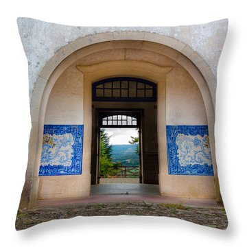 Old Train Station Throw Pillow