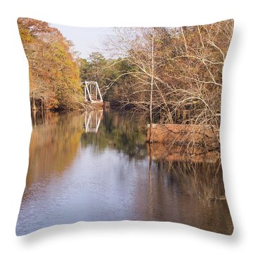 Old Trestle On The Waccamaw River Throw Pillow