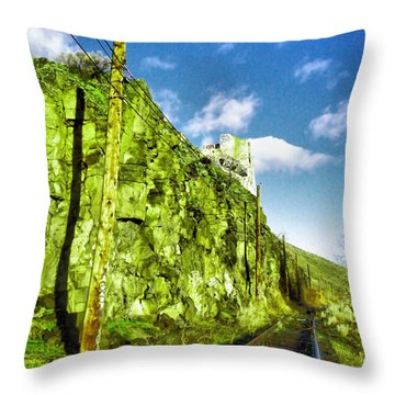 Throw Pillow featuring the photograph Old Trolly Tracks by Jeff Swan