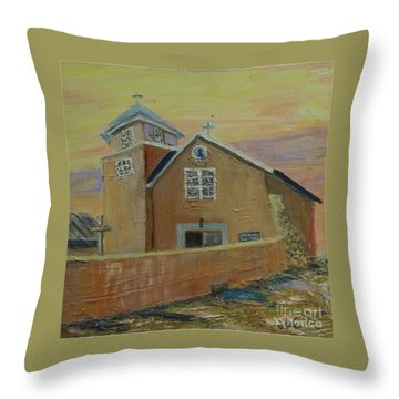 Old Truches Mission Of Holy Rosary -- Sold Throw Pillow