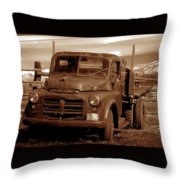 Throw Pillow featuring the photograph Old Truck by Norman Hall