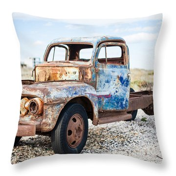 Old Truck Throw Pillow by Silvia Bruno