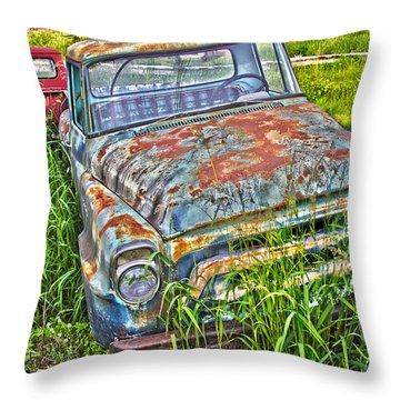 Old Trucks Throw Pillow