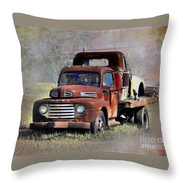 Throw Pillow featuring the photograph Old Trucks by Savannah Gibbs