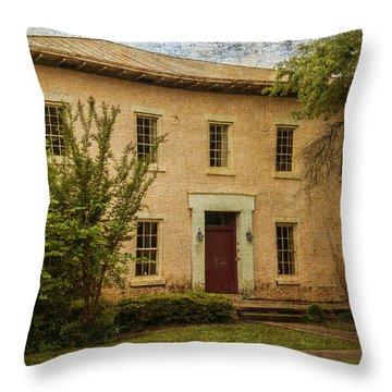 Old Tuscaloosa Jail Throw Pillow by Phillip Burrow