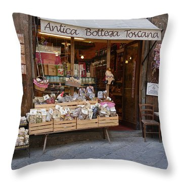 Old Tuscan Deli Throw Pillow