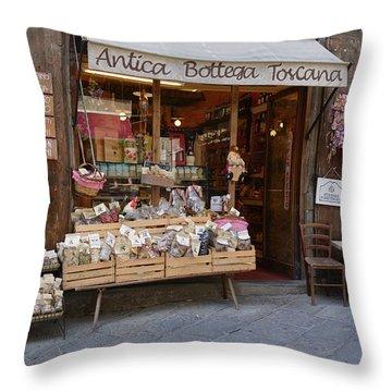 Old Tuscan Deli Throw Pillow