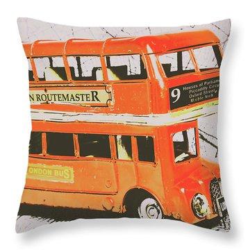 Old United Kingdom Travel Scene Throw Pillow