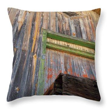 Old Unloading Dock Throw Pillow