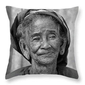 Old Vietnamese Woman Throw Pillow