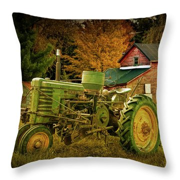 Old Vintage John Deere Tractor With Retro Overlay