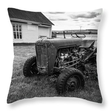 Throw Pillow featuring the photograph Old Vintage Tractor Iceland by Edward Fielding