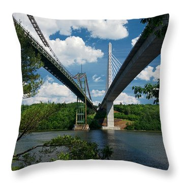 Old Vs New Throw Pillow